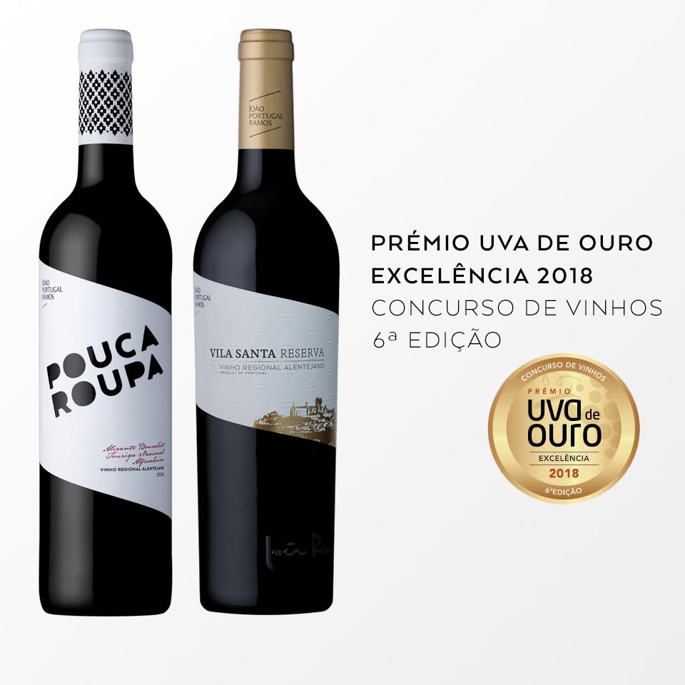 Prémio Uva de Ouro, Excelência 2018 (Concurso de Vinhos - 6ª Edição)
